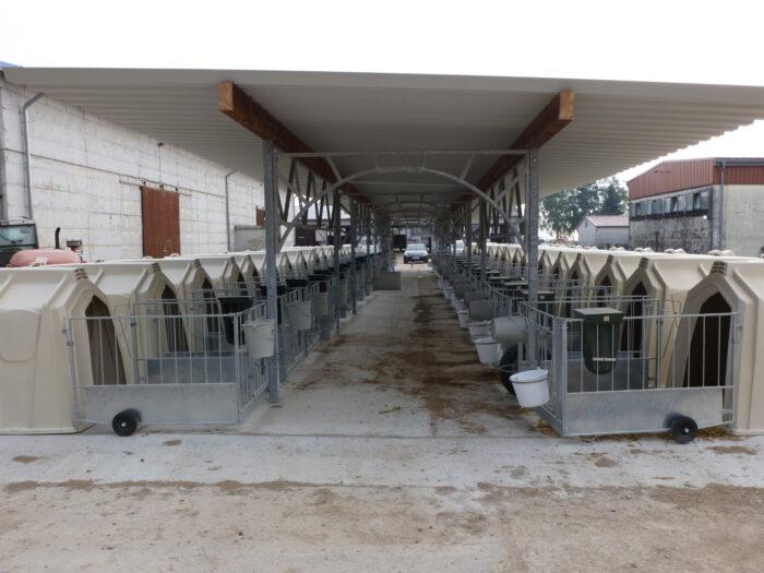 Erweiterter KälberGarten mit 20 Hütten